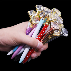 Image 5 - 20 Pieces / Lot Large Crystal Diamond Head Ballpoint Pen Student Stationery Office Business Gifts Metal Pen Registered Shipping