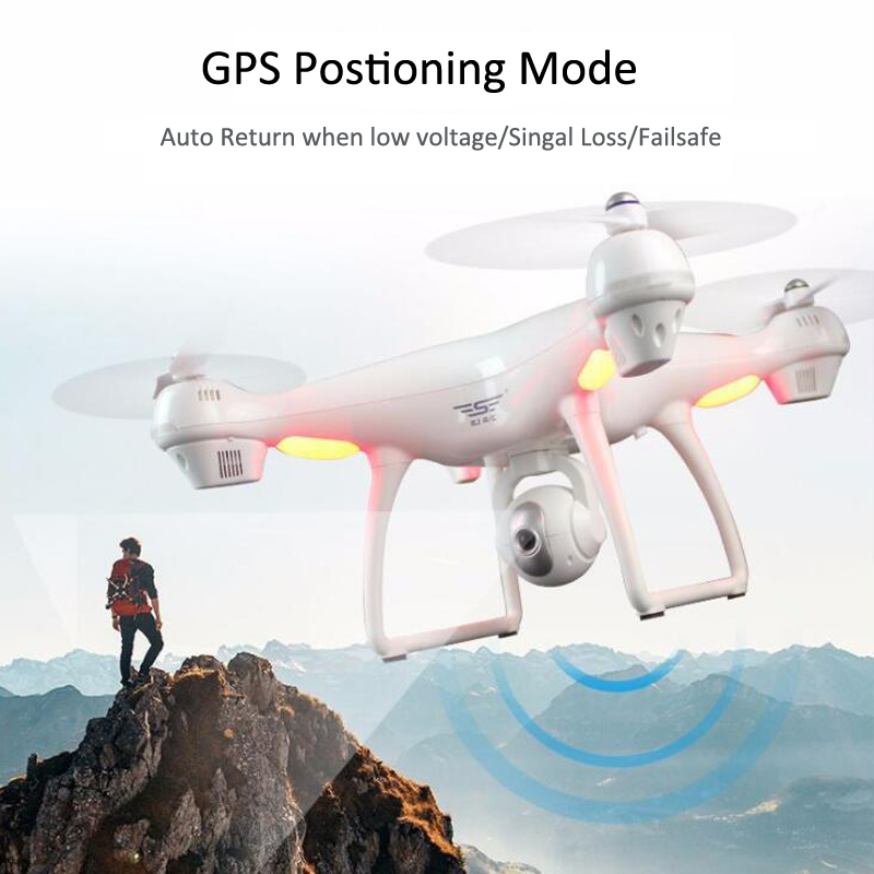 S70W GPS FPV RC Drone with 1080P HD Adjustable Wide-Angle Camera WiFi Live Video Follow Me GPS Return Home RC Quadcopter Dron 4