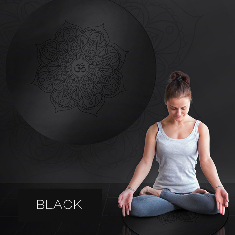 PU Mandara Little Round Yoga Mats 3MM Natural Rubber Non Slip Yoga Cushion Home Meditation Pad
