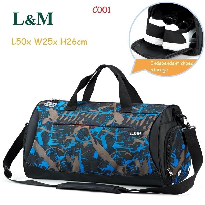 ddfd2528fb96 L M Professional Men Women Shoulder Bag Gym Bag Large Capacity Athletic  Bags Travel Duffel Tote Durable Sport Handbag Yoga Bag