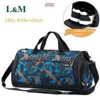 L&M Professional Men Women Shoulder Bag Gym Bag Large Capacity Athletic Bags Travel Duffel Tote Durable Sport Handbag Yoga Bag