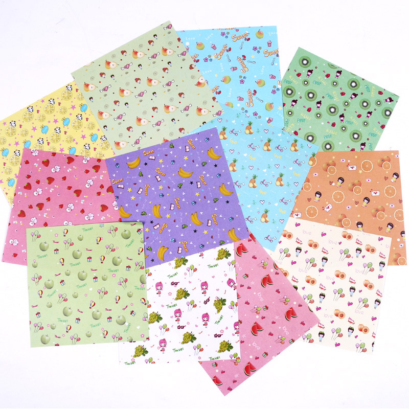 12 Kinds of Patterns Paper Craft 72 Sheets 15X15cm Mix Color Flower Patterned Folding Paper Square Origami Papers DIY Kid Gift