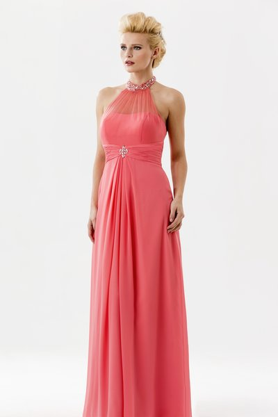 Coral Long Bridesmaid Dresses Photo Album - Weddings by Denise
