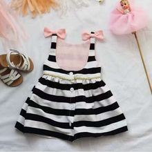 Black & White with Bow Party Cute Dress