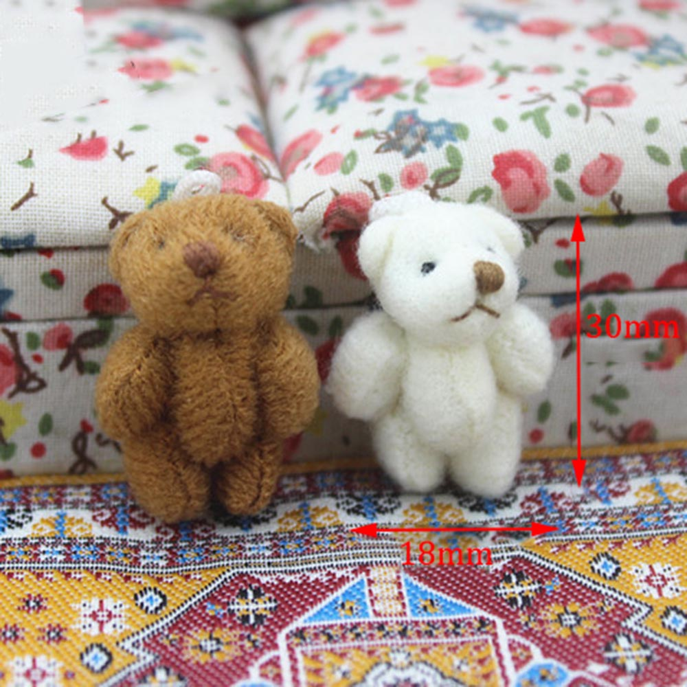1Pcs 1/12 Dollhouse Miniature Accessories Mini Bear Simulation Miniature Animal Model Toys For Doll House Decoration