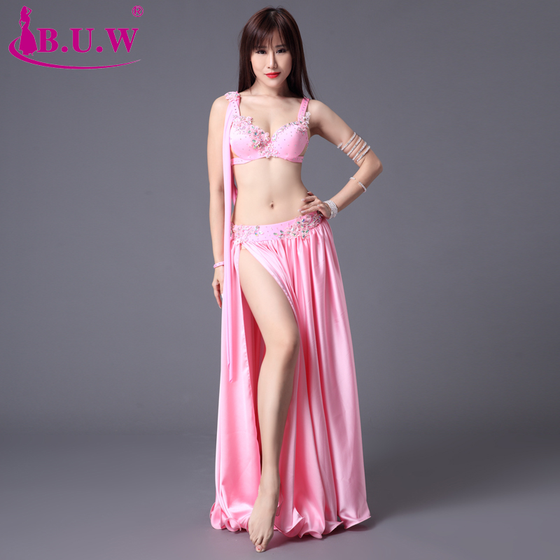 Dance Performance Women Dancewear Professional Outfit Bra Top+Skirt Belly Dance Costume BY011
