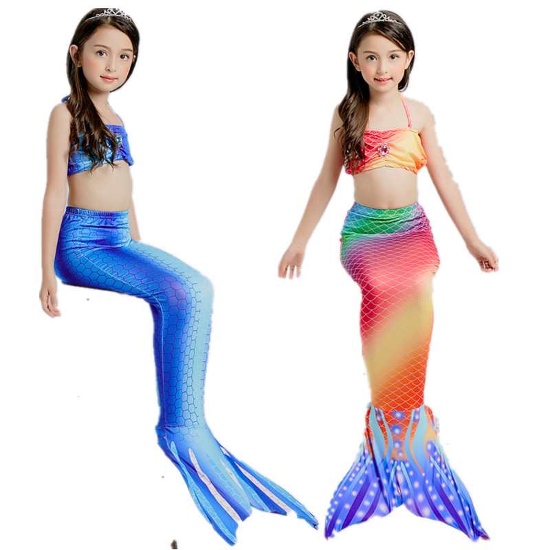 Tprpco Halloween Girl Mermaid Tail Costume Princess Ariel Swimwear Bikini Soft Children Kid Girl Beach Dress Nl106 Modern Design Mother & Kids
