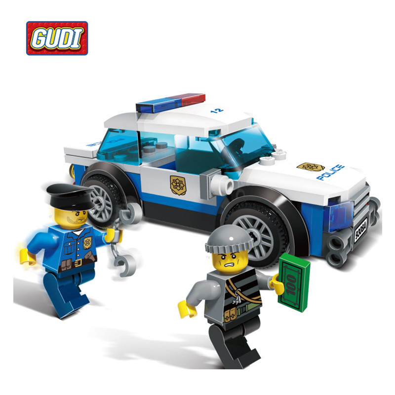 GUDI 83pcs/set Police Sport Car Assembling Building Bricks Sets Plastic Blocks Toys for Children Kids Educational DIY Block Gift 2016 kids diy toys plastic building blocks toys bricks set electronic construction toys brithday gift for children 4 models in 1