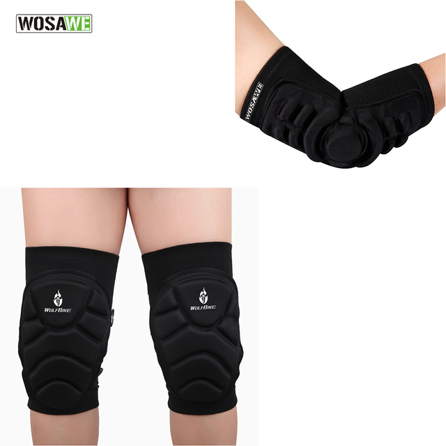 92a1c95150 WOSAWE 4Pcs Elbow & Knee Pads MTB DH Bike Cycling Protection Set Motorcycle  Dancing Knee Brace Support Gear Protector Guards