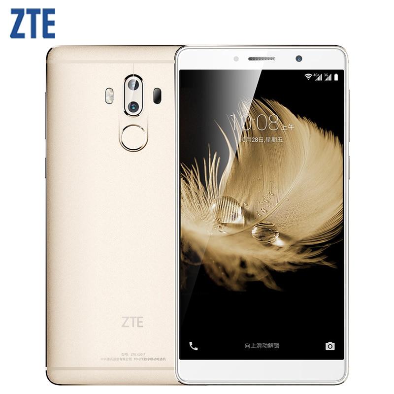 "Original ZTE Axon 7 Max Cell Phone 4GB RAM 64GB ROM Snapdragon 625 Octa Core 6.0"" Screen Dual 13.0MP Camera Fingerprint 4G LTE S"