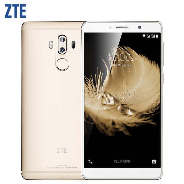 "Original zte axon 7 max 4g lte teléfono móvil 4 ram 64g rom snapdragon 625 octa core 6.0 ""Dual Trasera 13.0MP Smartphone de Huellas Digitales"