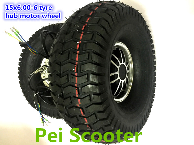 15 Inch Tires >> Us 102 0 15inch 15 Inch 15x6 00 6 Tire Bldc Single Shaft Brushless No Gear Dc Hub Lawn Mower Motor For Scooter Diy With Tire Phub 70 In Motors From