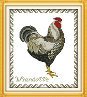 Animal The Big Cock(1)Canvas Cross stitch kits Counted DMC 14CT White 11CT Printed Embroidery DIY Handmade Needlework Home Decor