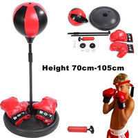 Peradix Emotion Relief Ball Punching Ball Toy 1 Set Office Outdoor Sport Desktop Relax Children's boxing sports toy set gloves