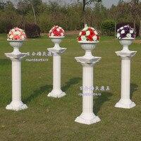 Wedding Road Lead Column Set 4pcs Lot Roman Pillar Roman Flower Pot Flower For Wedding And