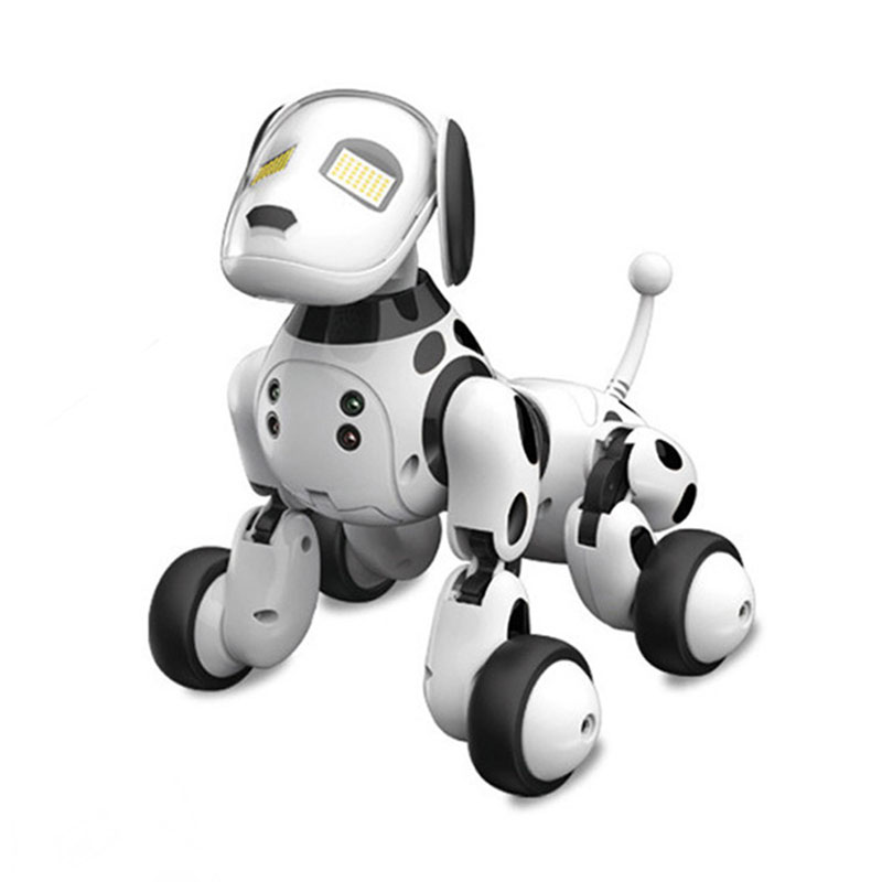Robot Dog Chip Smart Pet Intelligence Toy RC 2.4G Wireless Electronic Pets Dog Talking Remote Control Animals Gift For Birthday image