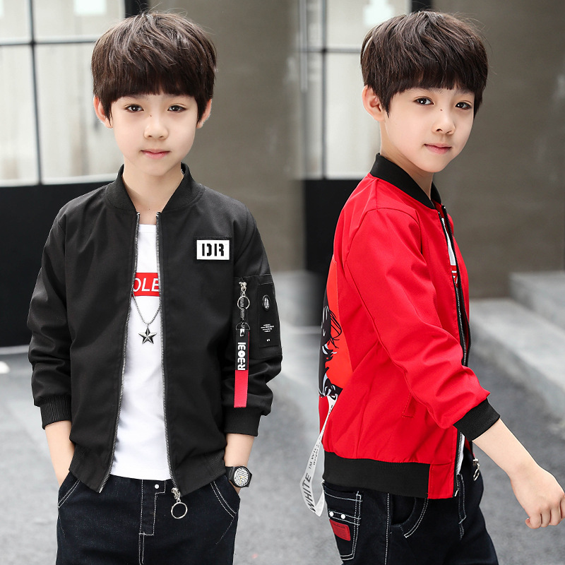 4 6 8 10 12 13 Years Boys Jacket New Arrival Clothing For Baby Boys Coat jackets  Autumn Kids Outerwear Cotton Children Clothes spring outfits for kids