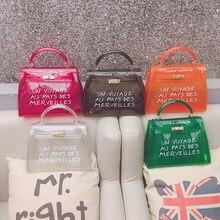 Clear Transparent Pvc Shoulder Bags Women Candy Color Jelly Purse Solid Handbags Large