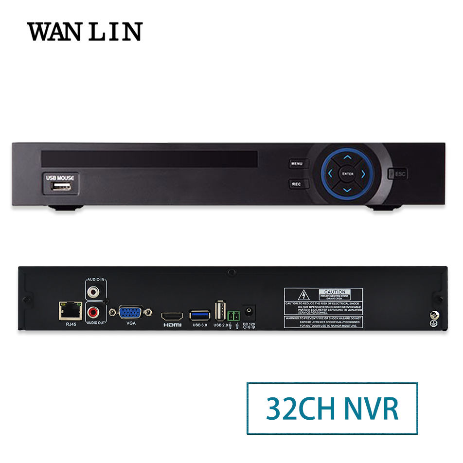 WANLIN 32CH 1080P NVR HI3535 Network Video Recorder Support 2SATA HDD Wifi 3G RTSP 16CH 4MP 8CH 5MP IP Camera ONVIF P2P XMEYE english version ds 7716ni e4 16p 16ch nvr with 16 poe interface ip camera network video recorder 4sata for hdd support update