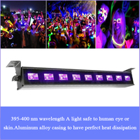 9/12 LED Disco Light UV Violet Black Lights DJ Lamp UV For Sound Party Lights Disco Ball Dj Light Spot Light With Remote Control