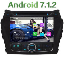 "8"" Android 7.1 Quad Core 2GB RAM 4G WiFi BT Multimedia Car DVD Player Radio Stereo GPS Navi For Hyundai IX45 Santa FE 2013-2016"