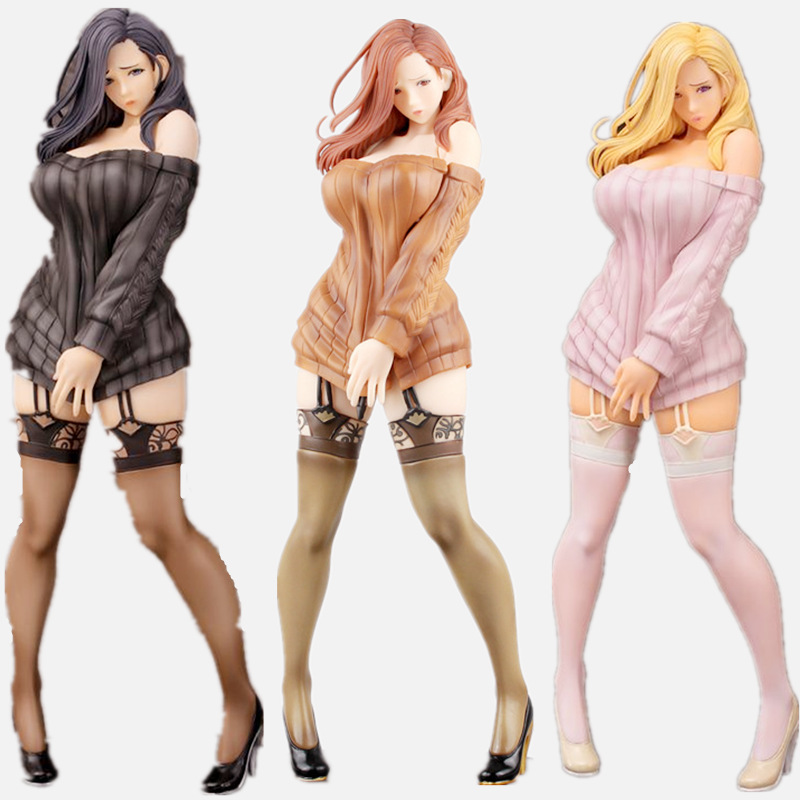 Anime Daiki Kogyo Oda NON Illustration Shiho Kujo <font><b>1/6</b></font> Scale PVC Action <font><b>Figures</b></font> Toys <font><b>Sex</b></font> Girls Collectible Model Adult Toys image