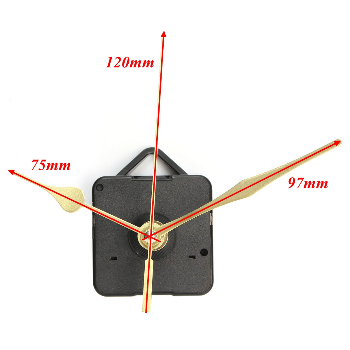 Wall Clock Wiring Diagram Library New Gold Hands Quartz Black Movement Mechanism Repair Parts Silent In Clocks From