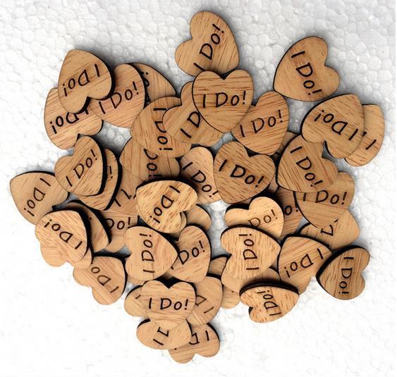 100pcslot i do wooden heart table confetti rustic wedding wooden heart table confetti rustic wedding decoration wood confetti photo junglespirit Gallery