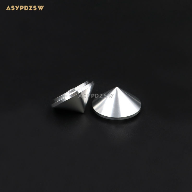 4PCS Aluminum Silver 29*16 Audio amplifier speaker feet CD player pads Shock spikes