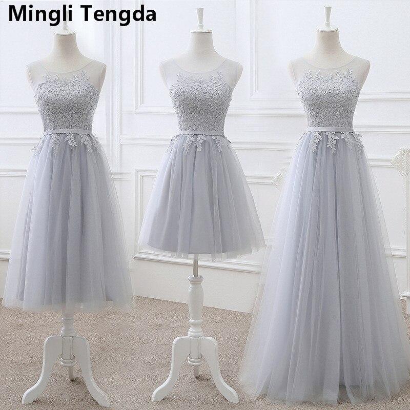 Vestido De Noiva New Champagne   Bridesmaid     Dresses   Lace Elegant Long Party Prom   Dresses   robe demoiselle d'honneur Mingli Tengda
