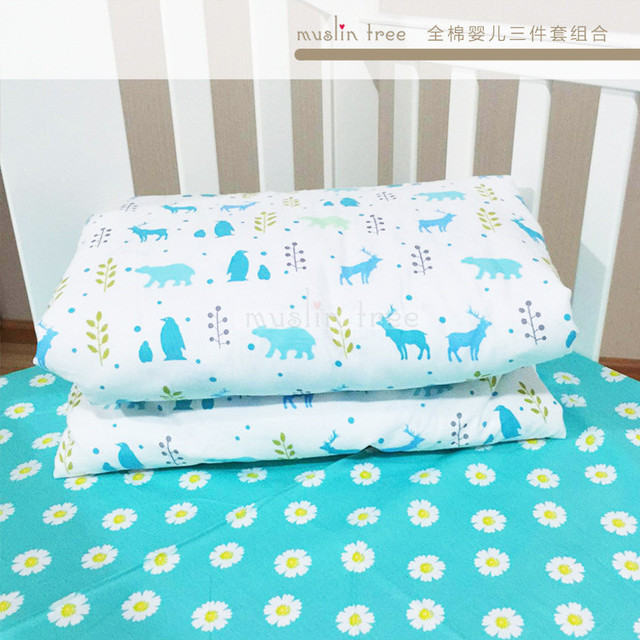 Children's 1cps/set baby duvet cover 100% cotton Ins include pillowcase plat quilt case Stripes and stars without filling
