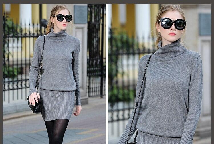 2016 In Stock Fashion New Arrive Russian Style Winter Sweater Slim Women Dress Ladies Dress
