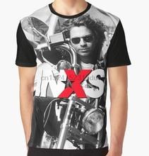 All Over Print T shirt Mannen Funy Tshirt Inxs Michael Hutchence Korte Mouw O hals Grafische Tops Tee Vrouwen T shirt