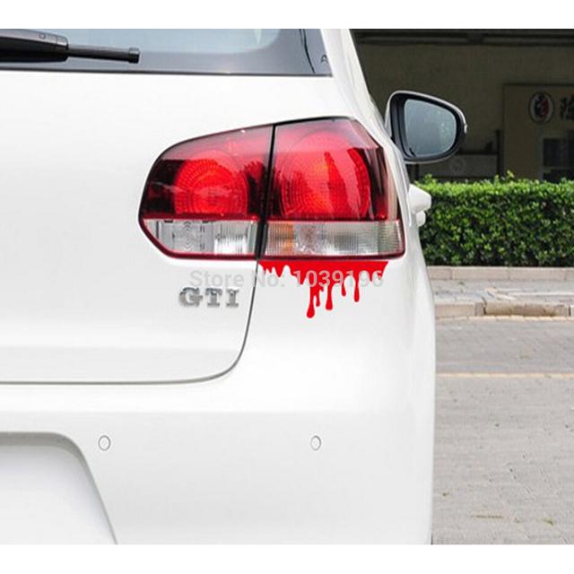 Bleeding Funny Car Sticker Auto Decal Car Accessories Sticker for Tesla ToyotaChevrolet Volkswagen Hyundai Kia Lada