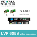 vdwall LVP605s+2 pc linsn sender ts802 video processor scaler for full color RGB LED display video screen wall