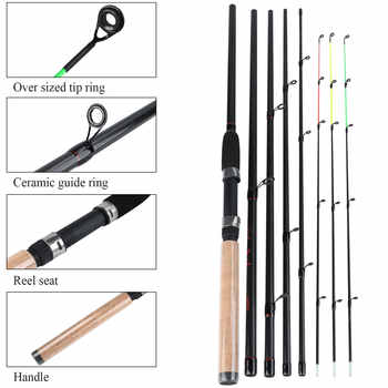 Sougayilang 3.0M Feeder High Carbon Rod Sets with Spinning Reel 3 Sections L M H Power Fishing Rod Combon Feeder Rod Pesca