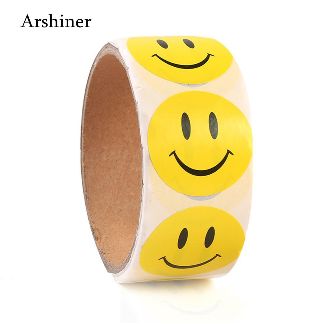 6 Sheet Sweet Beautiful Die Cut Sticker Smile Emotikon For Notebook Computer Message High Vinyl Funny Creat Making Things Convenient For Customers 6*48 Stickers