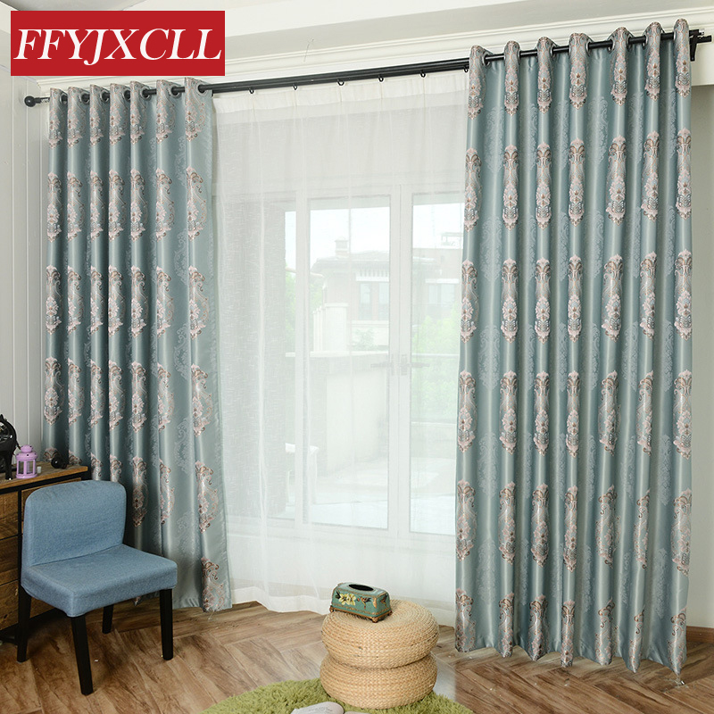 awesome light green living room curtains   Yarn Dyed Light Green Simple Blackout Curtains Jacquard ...