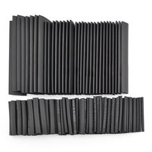 127 шт черный клей всепогодный Термоусадочные трубки Ассортимент Комплект дропшиппинг