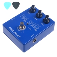 CP 17 Delay Guitar Pedals Guitar Digital Delay Pedal CP 17 600ms Max True Bypass Silver