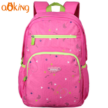 ФОТО aoking lightweight children backpack for kids nylon waterproof school backpack daily travel cute shoulders printing backpack