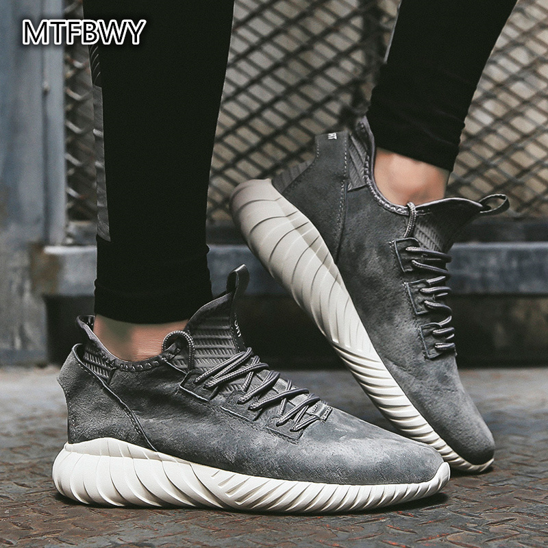 Men's Leather Sneakers quality comfortable lace up Trainer Sport shoes men ourdoor running shoe black/gray/red size 39 44 1901s
