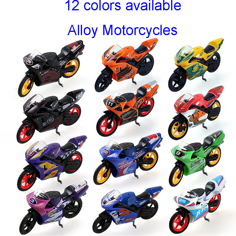 Baby toys 1:24 Children Q vertion mini motorcycles boy toys metal alloy model car 12 types available kids toy gifts collection