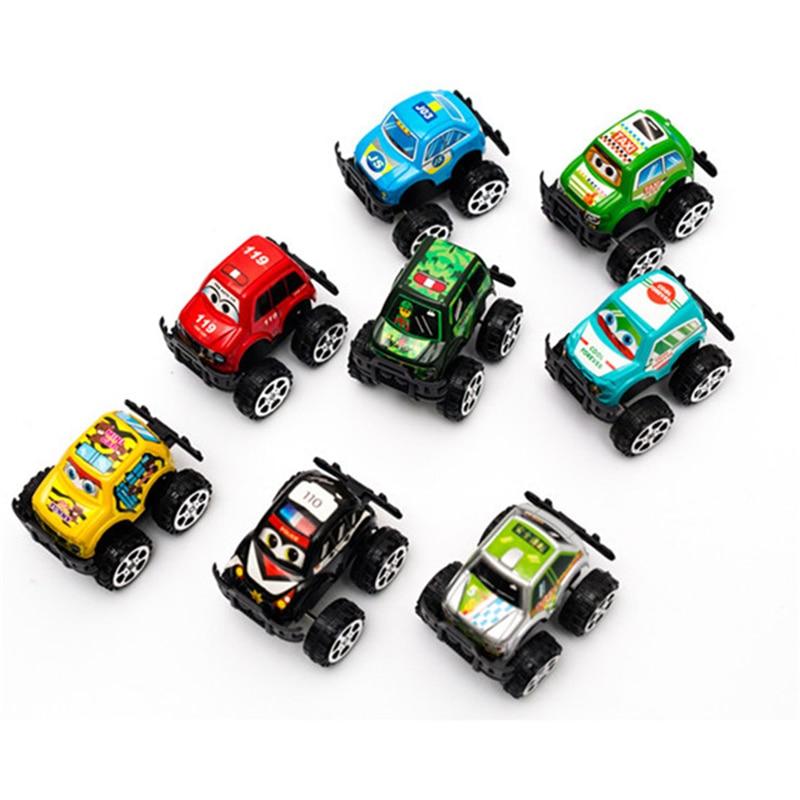 2017 new 8pcs baby children suvs car dinky toys model cars pull back cars kids racing