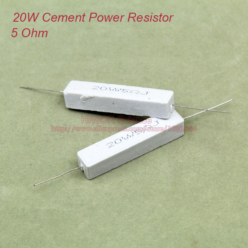 25 Watt Ceramic Cement Power Resistor 5 ohms