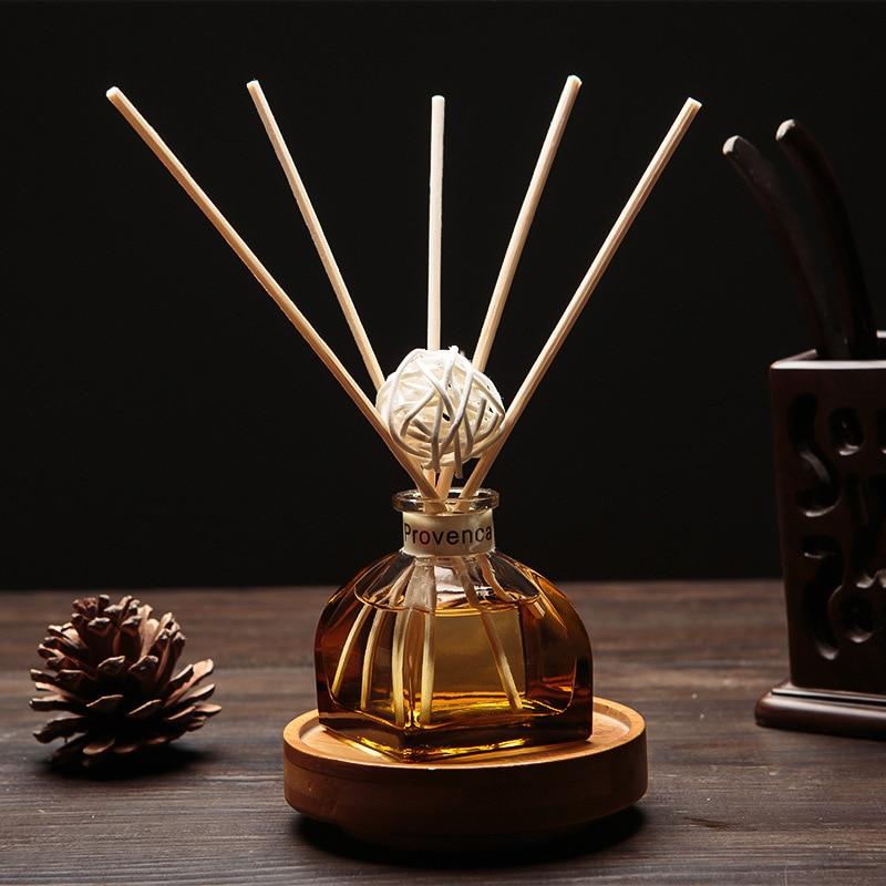 50 ml Casa de aceite de fragancia de mimbre Reed difusor habitación Perfume Aroma esencial suplemento de aceite de lavanda, jazmín Sakura rosa