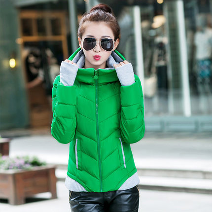 ФОТО Korean Winter Latest Fashion Ladies Coat Super Warm jacket Elegant Pure color Casual Big yards Short Cotton Jacket G0176