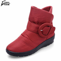 2017 Brand Winter Boots Women Snow Ankle Boots Mother Shoes Woman Waterproof Flexible Women Fashion Casual