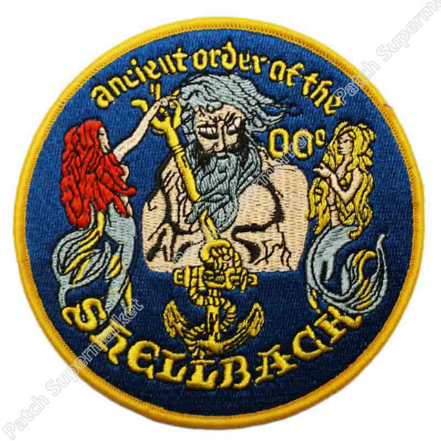 45 Big Us Navy Crossing Of The Equator Shellback Military Patch