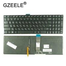 GZEELE لوحة مفاتيح الكمبيوتر المحمول الروسية الجديدة لشركة آسوس K501 K501U K501UB K501UQ K501UW K501UX A501L RU الخلفية دون إطار مع الخلفية